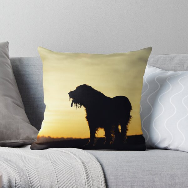 Sunset lookout Spinone  Throw Pillow