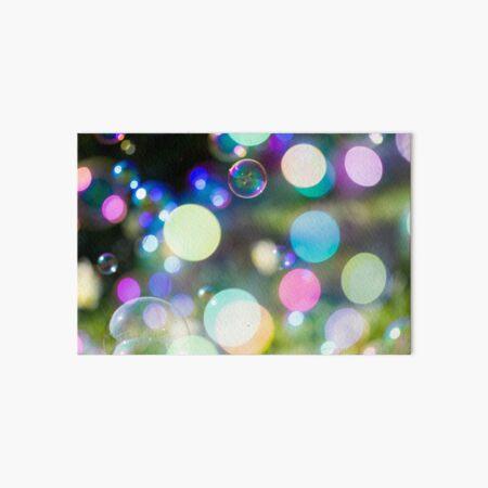 Soap Film - Bokeh Bubbles  Art Board Print