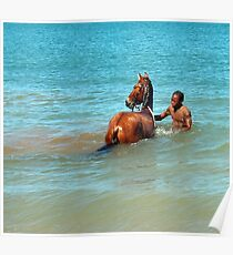 Horse Enters the Carribean Poster