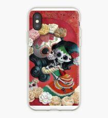 Vinilo o funda para iPhone Esqueletos mexicanos Madre e hija
