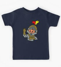 Retro cute Kid Billy as a Knight t-shirt Kids Clothes