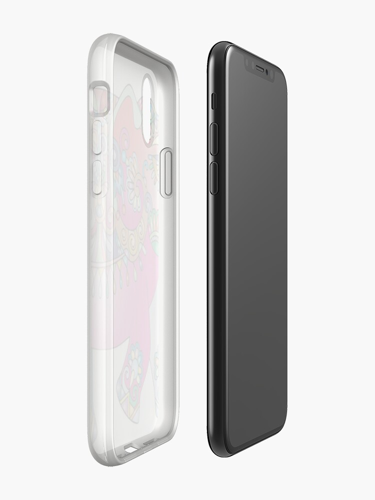 Alternative Ansicht von Bunter Elefant iPhone-Hülle & Cover