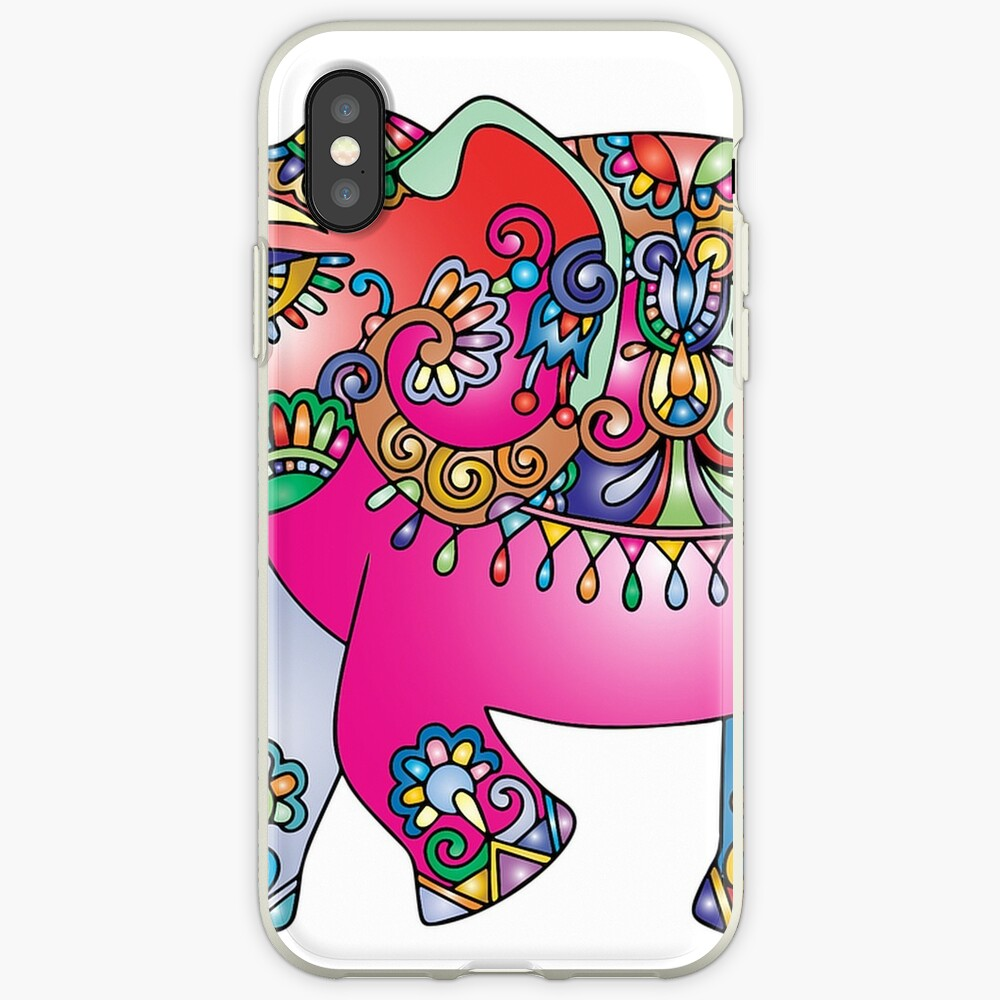 Bunter Elefant iPhone-Hülle & Cover