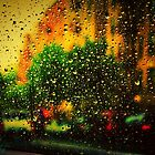 Rainstorm on the window by Gëzim Geci