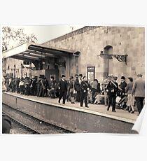 Railway station rush hour  Poster