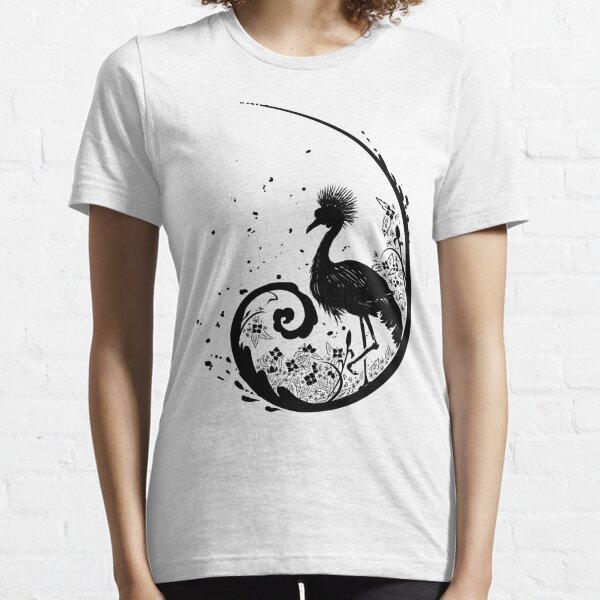 Golden Crane Silhouette Essential T-Shirt