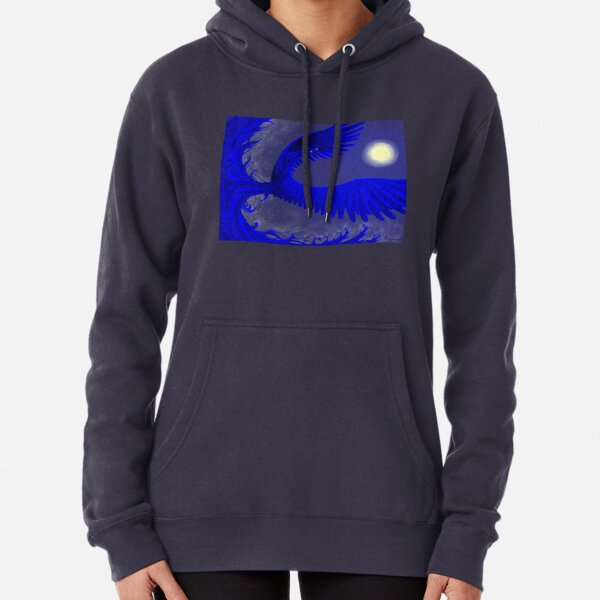 Blue-Gold at Midnight Pullover Hoodie