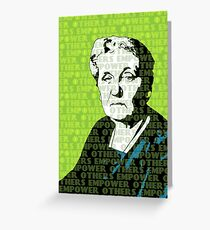 Jane Addams Empower Others Greeting Card