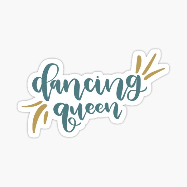 Dancing Queen Mamma Mia Sticker