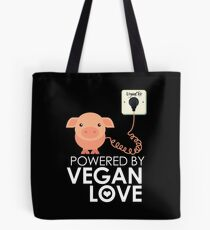 VeganChic ~ Powered By Vegan Love Tote Bag