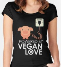VeganChic ~ Powered By Vegan Love Fitted Scoop T-Shirt