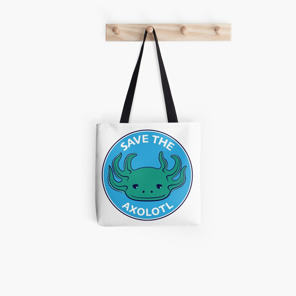 Save the Axolotl Tote Bag