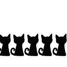 «Cat times five - black» de simeonistico