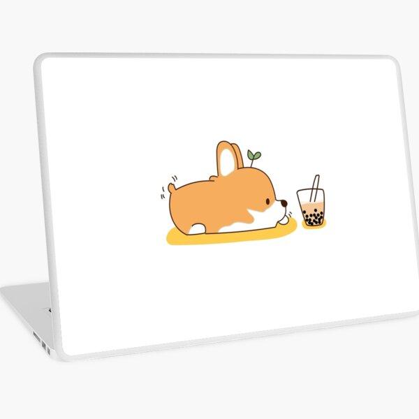 Corgi and Bubble Tea  Laptop Skin