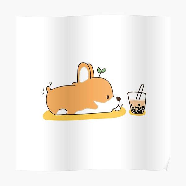 Corgi and Bubble Tea  Poster