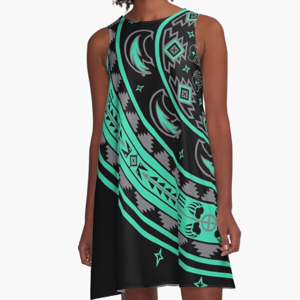 Bear Spirit Aqua A-Line Dress