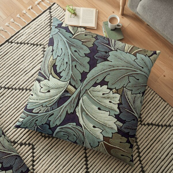 William Morris Acanthus blue pattern Floor Pillow