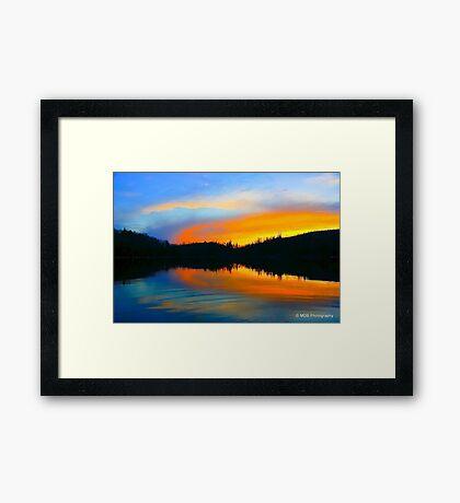 Lake On Fire Framed Print
