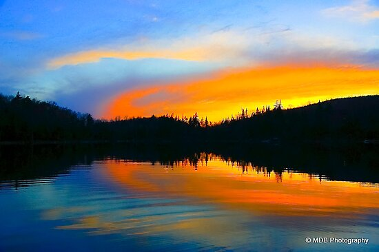 Lake On Fire by Mark David Barrington