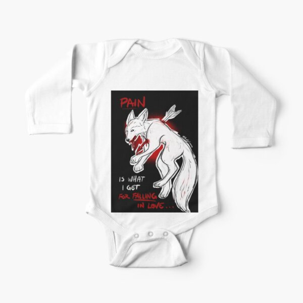 Love Wolf Long Sleeve Baby One-Piece