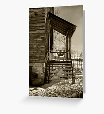 THE OLD PORCH SWING Greeting Card