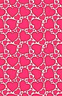 Pink Heart Pattern by LaRoach