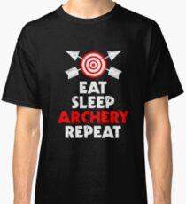 Eat Sleep Archery Repeat Verein Pfeil Hobby Classic T-Shirt