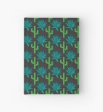 Cactus & Agave Pattern - Dark Hardcover Journal