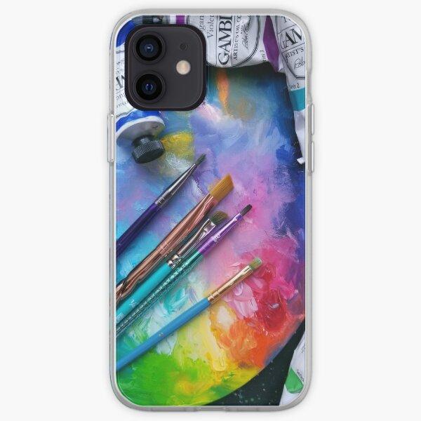 Oil Paints Rainbow Art iPhone Soft Case