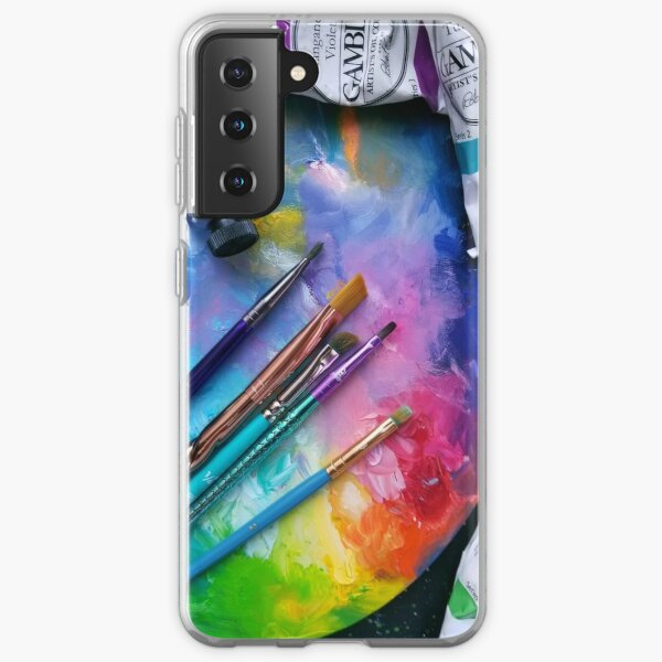 Oil Paints Rainbow Art Samsung Galaxy Soft Case