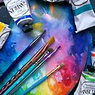 Oil Paints Rainbow Art by Erica Kilbourn