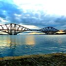 Forth Rail Bridge at Sundown by ©The Creative  Minds