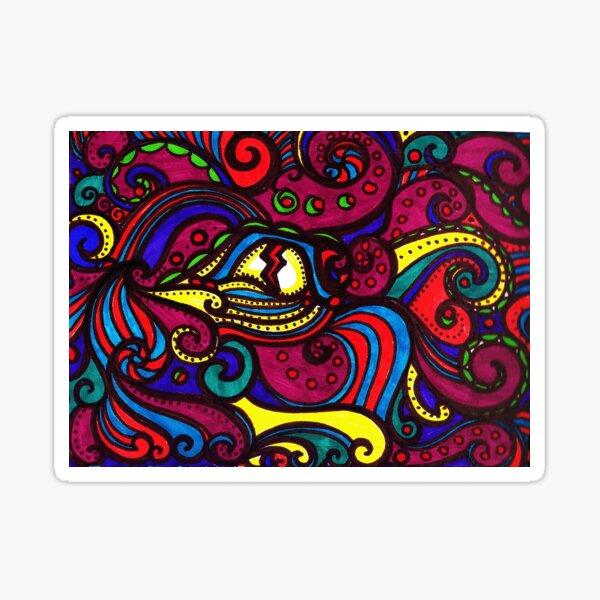 Oeil psychédélique Sticker