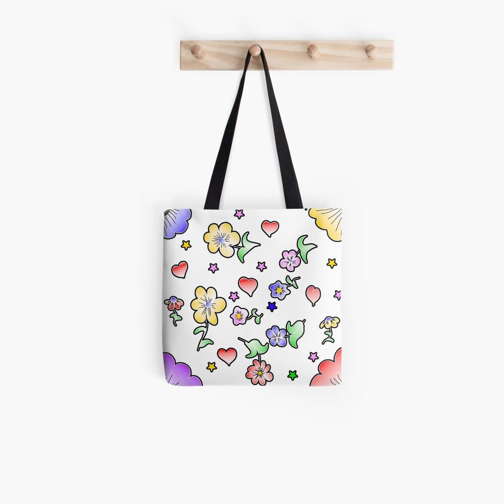 Blumen Fun Stofftasche