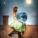 On the Rooftop (2 of Wands) by Catrin Welz-Stein