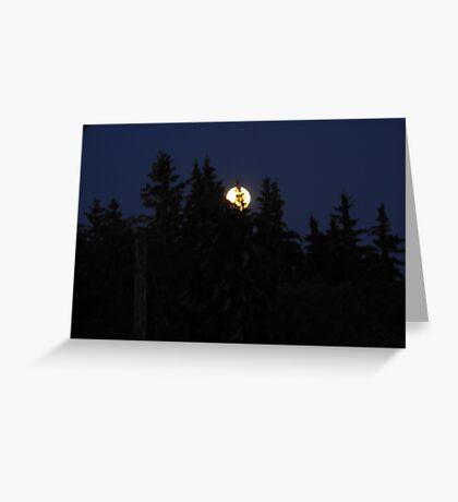 Full moon in Canada Greeting Card