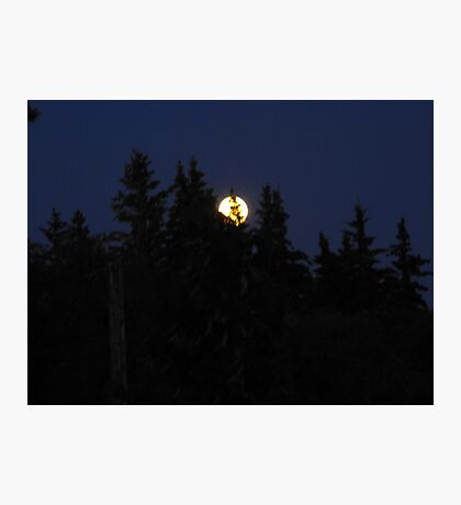 Full moon in Canada Photographic Print