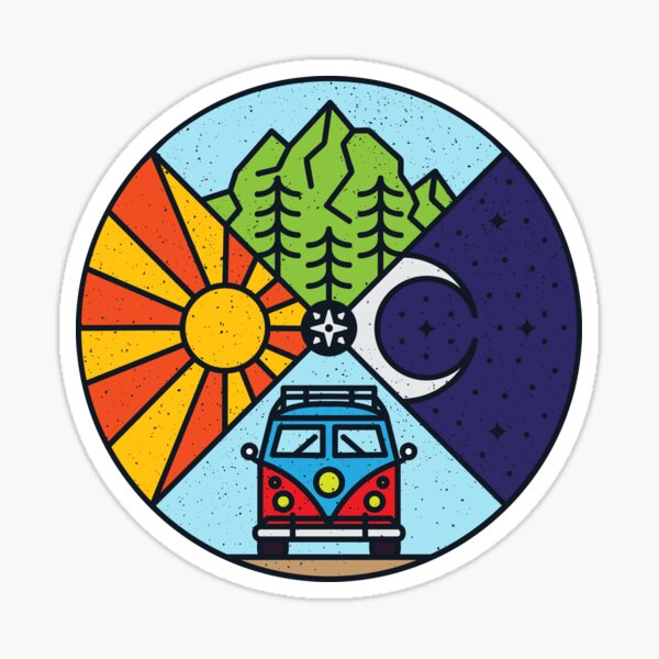 Road Trip / Couleur Ver. Sticker