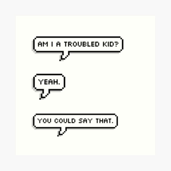 Percy Jackson, Troubled Kid Art Print