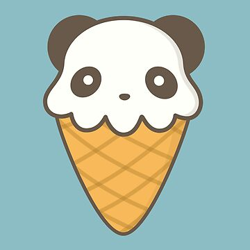 Cute Kawaii Ice Cream Panda by happinessinatee