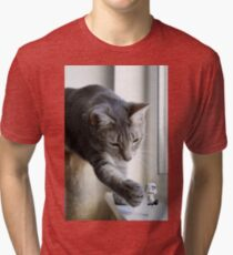 It's behind you! Tri-blend T-Shirt