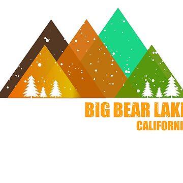 Big Bear Lake California Stickers by EfrainGaleano
