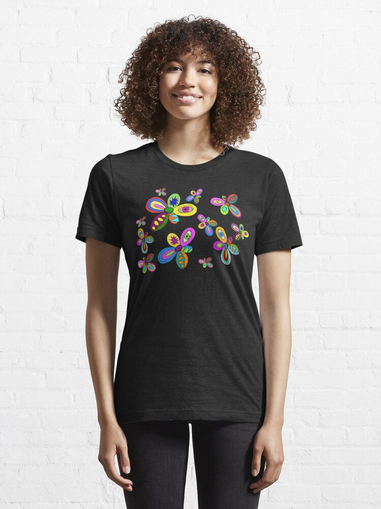 Alternate view of pattern flowers Essential T-Shirt