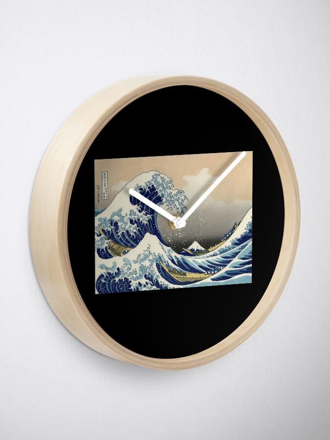"""Alternative Ansicht von """"Die große Welle vor Kanagawa"""" von Katsushika Hokusai (Reproduktion) Uhr"""