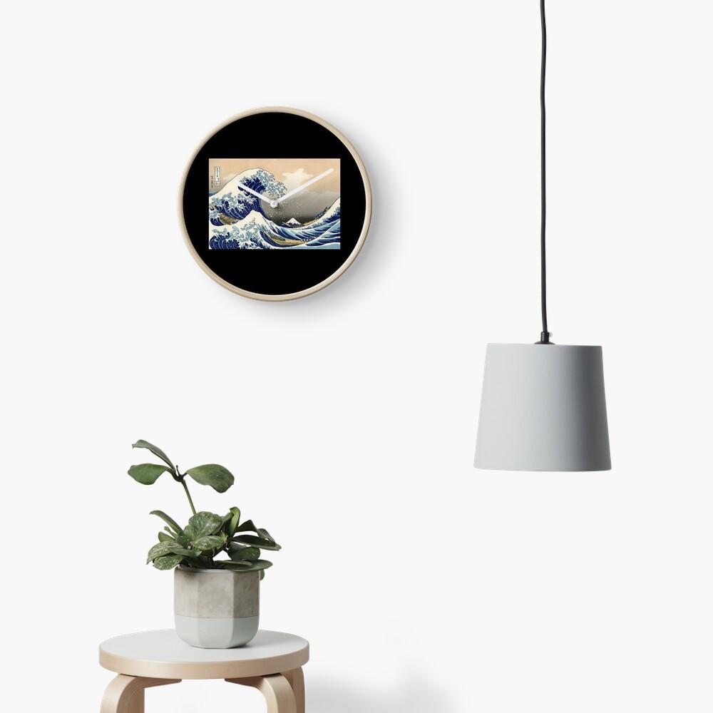 """""""Die große Welle vor Kanagawa"""" von Katsushika Hokusai (Reproduktion) Uhr"""
