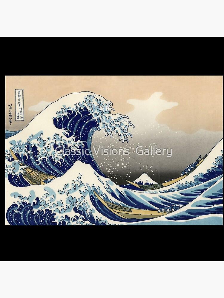 """""""Die große Welle vor Kanagawa"""" von Katsushika Hokusai (Reproduktion) von RozAbellera"""