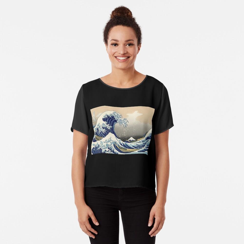 """""""Die große Welle vor Kanagawa"""" von Katsushika Hokusai (Reproduktion) Chiffon Top"""
