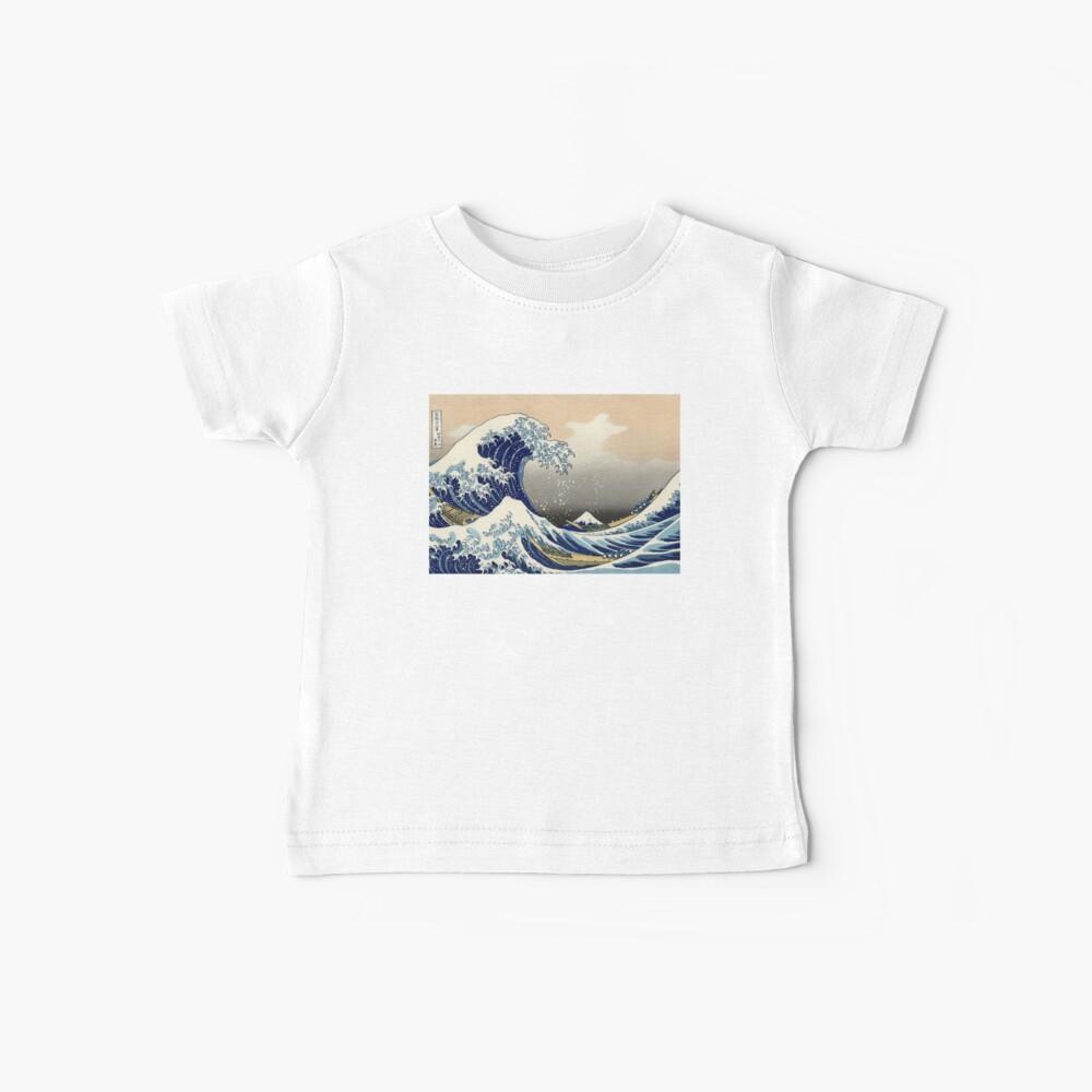 """""""Die große Welle vor Kanagawa"""" von Katsushika Hokusai (Reproduktion) Baby T-Shirt"""