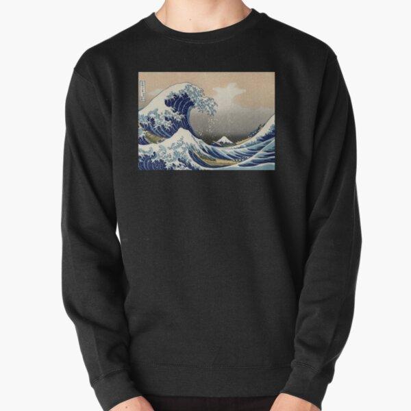 'The Great Wave Off Kanagawa' by Katsushika Hokusai (Reproduction) Pullover Sweatshirt