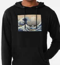 """""""Die große Welle vor Kanagawa"""" von Katsushika Hokusai (Reproduktion) Leichter Hoodie"""